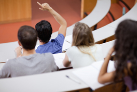 NM university students have lots of questions during class